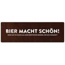 BIER MACHT SCHÖN Wandschild Vintage Dekoschild...