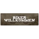 BIKER WILLKOMMEN Türschild Metallschild wetterfest Motorradfahrer Geschenk