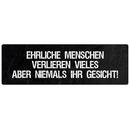 EHRLICHE MENSCHEN Zitat Spruch Schild Geschenk Freund...