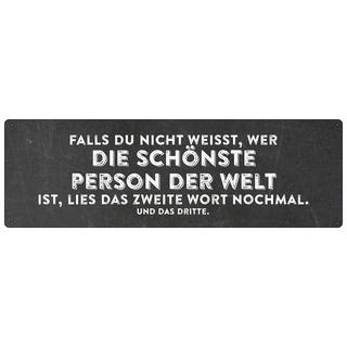 FALLS DU NICHT WEISST Schild Spruchschild Geschenk Geburtstag