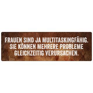 FRAUEN SIND JA MULTITASKINGFÄHIG Schild Türschild Firma Arbeit Werkstatt
