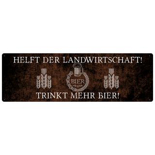 HELFT DER LANDWIRTSCHAFT Dekoschild Türschild Party Bier Geschenk Freund