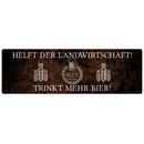 HELFT DER LANDWIRTSCHAFT Dekoschild Türschild Party...