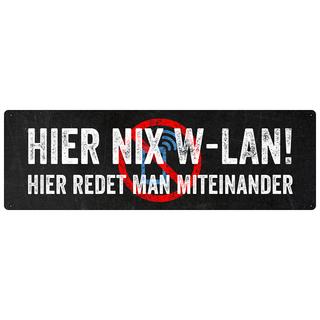 HIER NIX W-LAN Schild Handyverbot Blechschild Club Cafe Kneipe Party