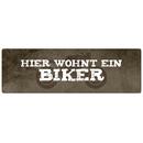 HIER WOHNT EIN BIKER Türschild Schild Haustür Wohnungstür Motorrad