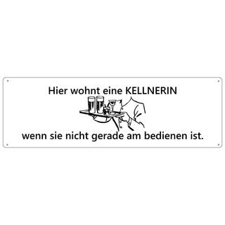 HIER WOHNT EINE KELLNERIN Türschild Schild Haustür Wohnungstür Geschenk