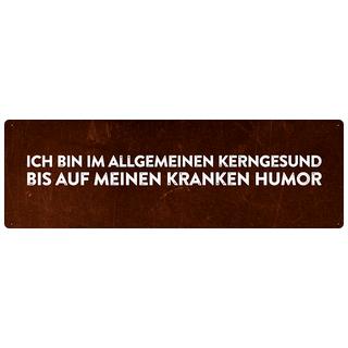 ICH BIN IM ALLGEMEINEN KERNGESUND Spruch Schild Humor Dekoschild
