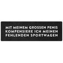 MIT MEINEM GROSSEN PENIS Schild Garage Werkstatt Auto...