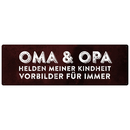 OMA & OPA  Metallschild Rost Dekoschild Geschenk