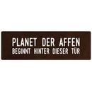PLANET DER AFFEN Schild Metallschild Türschild Büro Firma Werkstatt