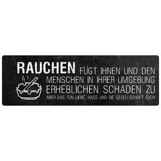 RAUCHEN FÜGT IHNEN Schild mit Spruch Raucher Raucherecke Wandschild