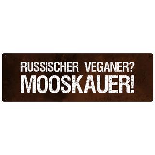 RUSSISCHER VEGANER lustiges Schild mit Spruch Wandschild Küche