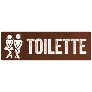 Türschild TOILETTE *ROST* Gäste WC Toilettenschild wetterfest Metallschild Retro