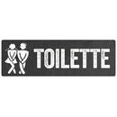 Türschild TOILETTE *SCHWARZ* Gäste WC...