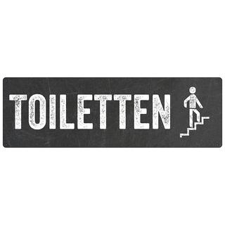 Türschild TOILETTEN *TREPPE RAUF* WC-Schild Toilettenschild Gaststätte Café Restaurant