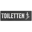 Türschild TOILETTEN *TREPPE RAUF* WC-Schild...