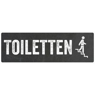 Türschild TOILETTEN *TREPPE RUNTER* WC-Schild Toilettenschild Restaurant Hotel