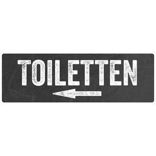 Türschild Hinweisschild TOILETTEN PFEIL LINKS Toilettenschild WC-Schild Hotel Restaurant