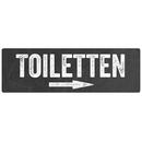 Türschild Hinweisschild TOILETTEN PFEIL *RECHTS* Toilettenschild WC-Schild Hotel Restaurant
