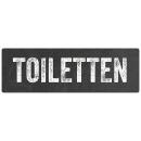 Türschild TOILETTEN Metallschild wetterfest WC Gäste-WC Café Restaurant Hotel