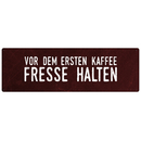 VOR DEM ERSTEN KAFFEE Spruchschild Wandschild Küche Büro Deko