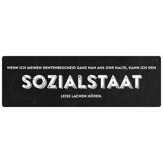 WENN ICH MEINEN RENTENBESCHEID Schild mit Spruch Sozialkritik Rente Vorsorge Wandschild
