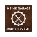 20x20cm Schild MEINE GARAGE MEINE REGELN Auto Deko...