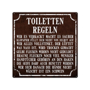 20x20cm Blechschild TOILETTEN REGELN Dekoschild Bad WC...