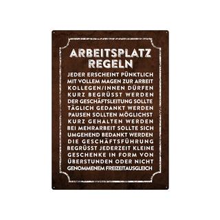 WANDSCHILD 28x20cm ARBEITSPLATZREGELN für CHEF und CHEFIN