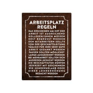 WANDSCHILD 28x20cm ARBEITSPLATZREGELN für MITARBEITER