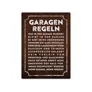 WANDSCHILD 28x20cm GARAGEN-REGELN Metallschild Auto...