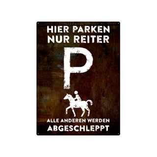 PARKSCHILD 28x20cm HIER PARKEN NUR REITER Pferde Stall Koppel Reiterhof