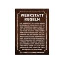 Metallschild 28x20cm WERKSTATT REGELN Wandschild Garage...