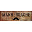 METALLSCHILD Blechschild MÄNNERSACHE Mann Bart...