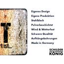 Schilderkönig Metallschild 28x20cm - Neuseeland Deutschland - Schild für Auswanderer wetterfestes Ortsschild Ortstafel Abschiedsgeschenk