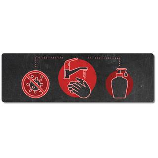 Schilderkönig Metallschild - Handhygiene Werkstatt - Hände waschen Hinweisschild Toilette WC Firma Lager Büro Waschbecken