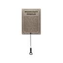 Schilderkönig Metallschild  mit Flaschenöffner 300x220mm - Werkstattregeln - lustiges Schild als Geschenk für Freunde Deko für Werkstatt, Garage, Keller,