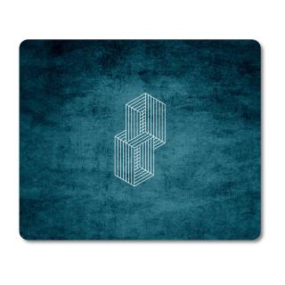 Schilderkönig Mauspad 23x19 cm - Abstract Blue - rutschfestes Mauspad, Gaming, Futuristisches Motiv, Geometrie
