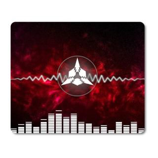 Schilderkönig Mauspad 23x19 cm - Pulse - rutschfestes Mauspad, Gaming, Music, Futuristisch, Future