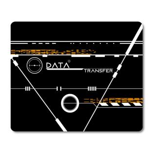 Schilderkönig Mauspad 23x19 cm - Data Transfer - rutschfestes Mauspad, Gaming, Geometrie, Futuristisch