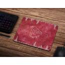 Schilderkönig Mauspad 23x19 cm - Abstract Red - rutschfestes Mauspad, Gaming, Gemoetrie, Music, Design für Gamer