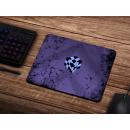 Schilderkönig Mauspad 23x19 cm - Purple Cube - rutschfestes Mauspad, Gaming, Gemoetrie, Abstract, Gltich Design
