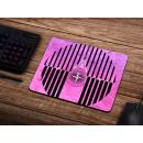 Schilderkönig Mauspad 23x19 cm - Abstract Pink - rutschfestes Mauspad, Gaming, Geometrie, Design für Gamer