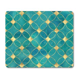 Schilderkönig Mauspad 23x19 cm - Blue Diamond - rutschfestes Mauspad, Gaming, Elegant, Luxus, Luxuriös