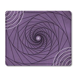Schilderkönig Mauspad 23x19 cm - Black Hole - rutschfestes Mauspad, Gaming, Abstract, Geometrie