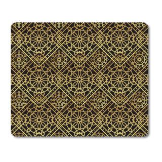 Schilderkönig Mauspad 23x19 cm - Gold Abstract - rutschfestes Mauspad, Gaming, Abstract, Geometrie