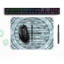 Schilderkönig Mauspad 23x19 cm - Artic - rutschfestes Mauspad, Gaming, Abstract, Geometrie, Frost